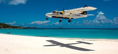 Come by plane to Saint Barts